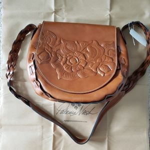Patricia Nash Cavallina Saddle Bag in Florence